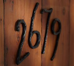House numbers... I could make those! Blacksmith forge time...