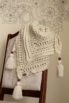 Ravelry: Countrywide Shawl pattern by Nikolett Corley Designs #CrochetBeanie