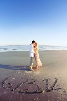 SAVE THE DATE! If I can't have my wedding on a beach, I'm at least having my engagement pics taken on the beach!!