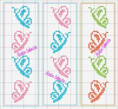 Tiny Cross Stitch, Butterfly Cross Stitch, Cross Stitch Bookmarks, Cross Stitch Animals, Cross Stitch Flowers, Cross Stitch Charts, Cross Stitch Designs, Cross Stitch Patterns, Cross Stitching