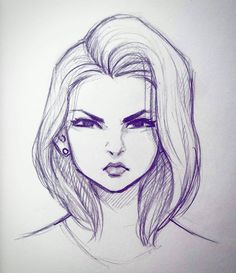 Ideas For Doodle Art Sketches Awesome Girl Drawing Sketches, Cool Art Drawings, Pencil Art Drawings, Drawing Faces, Drawing Art, Tumblr Sketches, Easy Drawings, Girl Face Drawing, Person Drawing