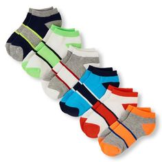 Boys Boys Place Sport Arch Stripe Ankle Sock 6-Pack - Multi - The Children's Place