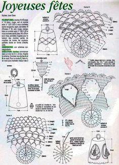 KUFER with artistic craft: knitting Christmas decorations Knitted Christmas Decorations, Christmas Ornaments, Christmas Ideas, Xmas Bells, Christmas Knitting, Crochet Patterns, Diagram, Bullet Journal, Holiday
