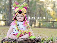 Owl Hat Crochet Pattern PDF  www.irarott.com  Buy 4 or more patterns get 20% off