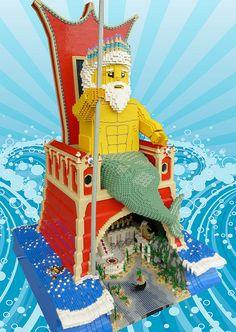 Poseidon by Brickbaron, via Flickr