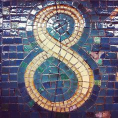 NYC subway mosaic in mosaic Nyc Subway, Subway Art, Subway Tile, Mosaic Art, Mosaic Tiles, Mosaic Projects, Projects To Try, Liz Lemon, Leaving New York