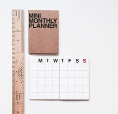 MINI MONTHLY PLANNER #papergoods #office #notes