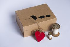 Beautifully simple packaging from First Baby Shoes handmade baby shoe kit
