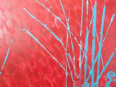 Reeds of Turquois...abstract painting by BlissStudio28 on Etsy