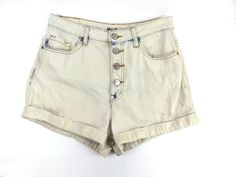 a4ac5d31f5 UO BDG Super High Rise Foxy Exposed Button Denim Shorts Bleached Wash Size  29 #UrbanOutfitters #Shorts #Casual