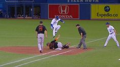 MLB VIDEO: Tulo leaps to avoid tag: Troy Tulowitzki reaches on an error and is…