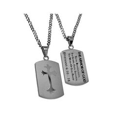 EPHESIANS 6:10-18 Shield Cross Armor Of God Necklace with Bible Verse, Stainless Steel Curb Chain