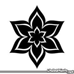 simple vector flower - Google Search Bead Embroidery Patterns, Folk Embroidery, Beaded Embroidery, Vector Flowers, Shibori, Rosettes, Silhouette Cameo, Paper Flowers, Stencils
