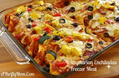 Vegetarian Enchiladas, Freezer Meals