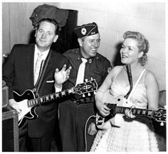 Les Paul and Mary Ford performed in the Heartcapades in Oakland, NJ in 1961. The appreciative middle man was Carmine Parete, the former director of the Oakland Rangers Junior Drum and Bugle Corps.