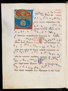 Fribourg/Freiburg, Couvent des Cordeliers/Franziskanerkloster, Ms. 6, f. 165v – Antiphonarium (http://www.e-codices.unifr.ch/en/list/one/fcc/0006)