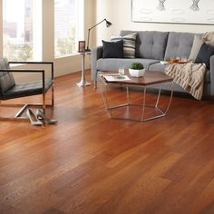 home legend gunstock oak 38 in thick x 5 in wide x varying length click lock hardwood flooring sq ft case - Home Legend Flooring