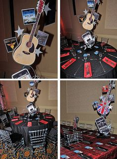 1000 images about music and rock and roll theme bar and bat mitzvah ideas on pinterest bar - Rock and roll theme party decorations ...