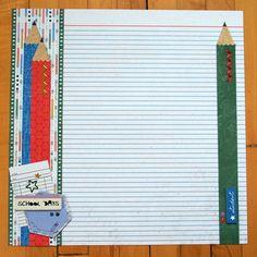 Border Ideas / Scrapbook Page Layout Idea