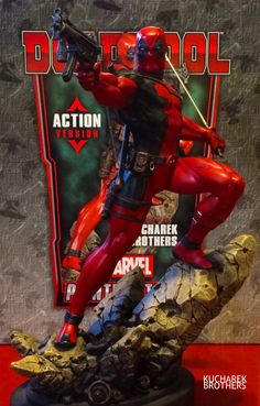 Deadpool Statue,Sculpted and Designed by the Kucharek Brothers.