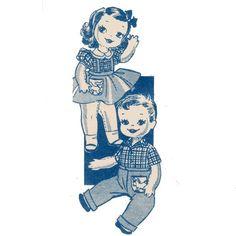 Image detail for -mysweetiepiepie :: Uncut VINTAGE 1950's Mail Order DOLL Sewing Pattern ...