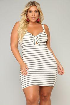 cd535d5a04d2b Belle Femme Tie Front Dress - Ivory. Plus Size ...