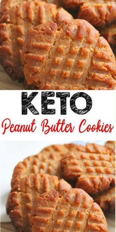 Here is a quick & easy homemade 3 INGREDIENT keto cookie recipe. If you are looking for a delicious, tasty cookie for a low carb diet then try this one out. Yummy peanut butter keto cookie recipe that Keto Cookies, Sugar Free Peanut Butter Cookies, Yummy Cookies, Cookies Soft, Peanut Butter Fat Bombs, Chip Cookies, Dessert Sans Gluten, Bon Dessert, Breakfast Dessert