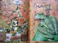 Swamp life art journal page