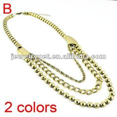 Aliexpress.com : Buy Gold/Silver Triple Chain Necklace, Charming pendant necklace,Ladies Beauty Chunky Necklace,Free shipping, NL 1702 from Reliable chain necklace suppliers on Well Done Fashion Jewelry Co.,Ltd. $8.52