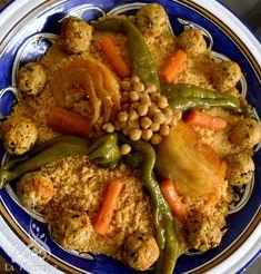 Coucous aux légumes et boulettes de poulet | La Tunisienne