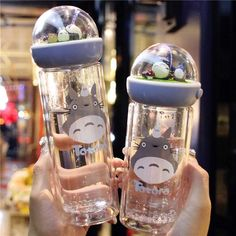 Buy Kwaii Totoro double layer glass bottle at Nate Travel Store using the world's most secure payment methods and you can enjoy free delivery of all orders Cute Water Bottles, Drink Bottles, Glass Bottles, Glass Water Bottle, Fille Anime Cool, Travel Store, My Neighbor Totoro, Cute Mugs, Kitchens