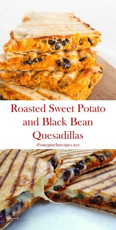 Easy recipe for roasted sweet potato quesadillas and black beans - Here& the . - Easy Recipe for Roasted Sweet Potato and Black Bean Quesadillas – Here is the easy recipe for Roa - Best Vegan Recipes, Raw Food Recipes, Veggie Recipes, Low Carb Recipes, Vegetarian Recipes, Cooking Recipes, Favorite Recipes, Healthy Recipes, Quesadillas