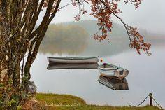 Rusky Autumn Loch Rusky, Torssachs, Scotland by Karl Williams
