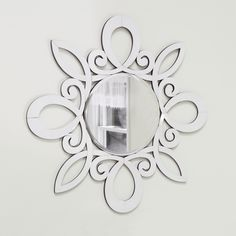 Kichler January White Wall Mirror - 47.25W x 47.25H in. | from hayneedle.com