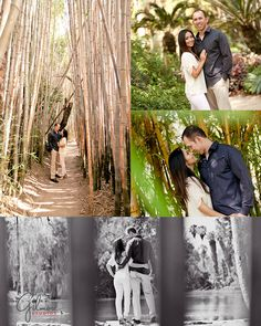 Los Angeles, Arboretum, Engagement Photo, Engagement Photography, Gilmore Studios, Kiss, Love, Engagement, Couple, Trees, Tall Trees, Flowers, Nature