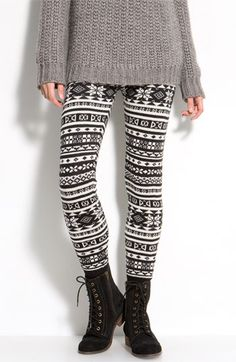 So I saw these at Nordy's yesterday and they looked soooo cozy. Sweater leggings! I would never wear them in public but would live in them at home!