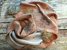 Eco Dyed Fine Linen and Ahimsa Peace Silk Reversible by SheGathers