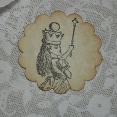Alice in Wonderland Stickers Party Supplies / Stationary Supplies / Party Favor Stickers Tag / Birthday Party Sticker / Baby Shower Sticker