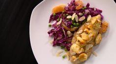 Salade au chou et poulet gratiné