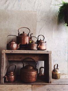 #bellocq Copper kettles http://andreagentl.vsco.co/media/52c71486736708bd72000142