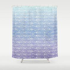 #society6 #showercurtain #ombre #dots #purple #blue