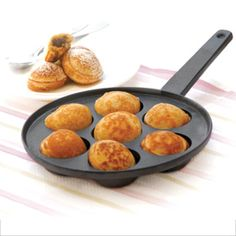 We make these every year christmas morning.  Ebelskivers- Danish Filled Pancakes