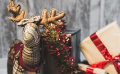 Download wallpapers Christmas, deer, New Year, festive decoration, concepts