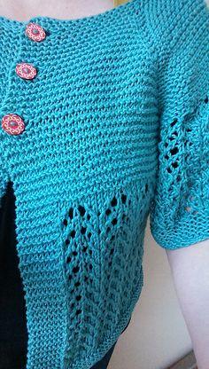 Ravelry: Ballee's winkel vestje Heel blij met mijn February Sweater (8 bollen Organico katoen van Lana Grossa op nld 5mm)