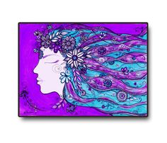 Printable Art Purple Abstract Painting Wall decor / by DHANAdesign