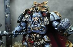 "Logan Grimnar ""The Great Wolve"" Warhammer 40k Space Wolves, Warhammer 40000, Wolf Painting, Thunder And Lightning, Warhammer 40k Miniatures, Fantasy Miniatures, Angel Of Death, Mini Paintings, Space Marine"