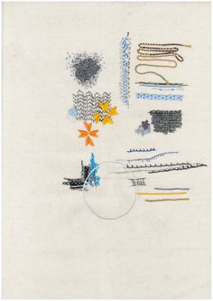 Embroidery and Collage. Mixed Media Textile Art, Textile artist Artist Study Richard McVetis Resources for Art Students , Art School Portfolio Works #CAPI #Textiles Sketchbook Studies