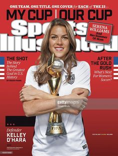 This is a Sports Illustrated magazine that has been hand signed by Kelly O'Hara. It comes with the PSA/DNA tamper-proof sticker and matching certificate for authenticity. Soccer Fifa, Play Soccer, Real Madrid, Manchester United, Dna, Si Cover, Female Soccer Players, Sports Illustrated Covers, Soccer Inspiration