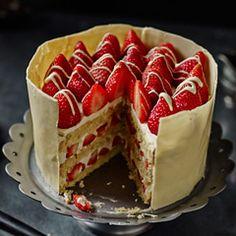 Strawberry, passionfruit & white chocolate cake - Sainsbury's Magazine