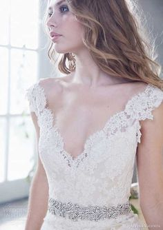 Alvina Valenta spring 2014 lace gown style wedding dress #2014 Valentines day wedding #woodland wedding ideas #spring wedding decor www.dreamyweddingideas.com